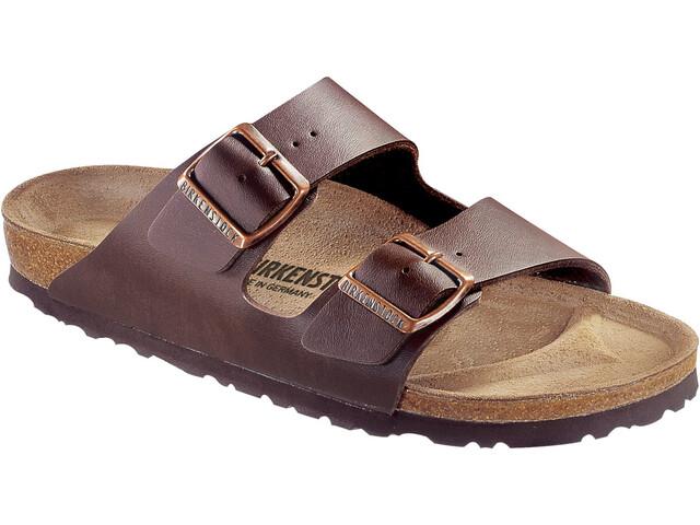Birkenstock Arizona Sandals Birko-Flor Nubuk Narrow, dark brown